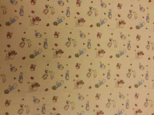 PETER RABBIT AND LILY BOBTAIL - Beatrix Potter material - Fabric - Price Per Metre